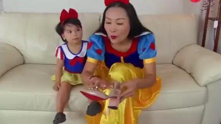 白雪公主寶寶去麥當勞買媽媽愛吃的超大薯條
