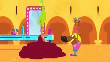 搞笑动画: 美人鱼一夜之间长出超长头发, 鬣狗扮