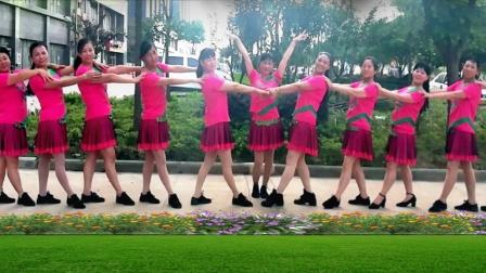 建群村广场舞 红红的日子 编舞 叶子 2018年最新广场舞