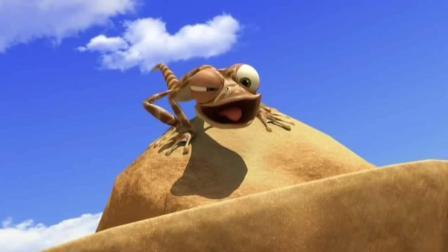 搞笑动画: 小蜥蜴打起嗝来! 想不到即刻拥有了轻