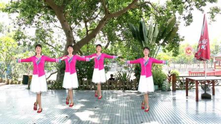 红领巾广场舞 想你想不够 一个小的广场舞队健身舞