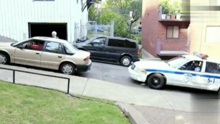 国外爆笑恶搞: 帮老奶奶停车结果撞上了警车, 这