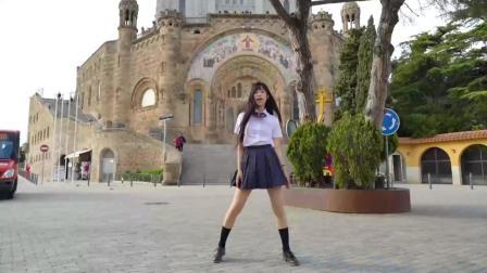 微小微广场舞 MOMOLAND BBoom BBoom 巴塞罗那街异国推广前卫广场舞