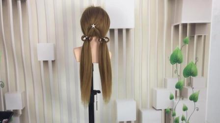 超级简单可爱的双马尾编发教程, 儿童发型设计