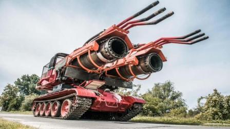 坦克与战斗机改装的消防车一分钟喷30吨水