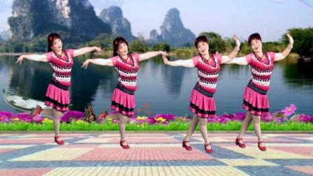 吕芳广场舞 简单水兵舞 火恋 正背面加分解动作舞蹈视频教程