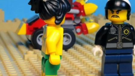 乐高Lego:大肚男被陷害入狱螃蟹帮其抓到真正眼镜科幻侠钢铁图纸图片