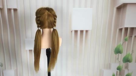 简单又漂亮学生马尾辫编发, 儿童发型设计