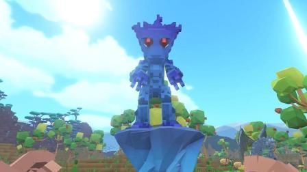 【肉肉】方块方舟恐龙我的世界游戏77#树人防御塔!