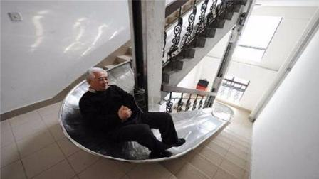 七旬老人发明逃生滑梯, 30楼逃生只需90秒, 已获得国家专利
