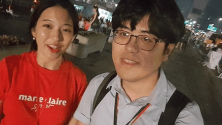 拍客世界杯 首尔又现红海应援 韩国美女带你访球