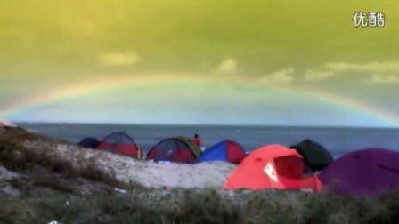 印象东甲岛老兵野外步行者塘屿岛太阳雨