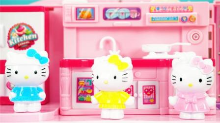 HelloKitty凯蒂猫的粉红色手提盒玩具