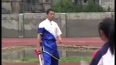 高二体育优质课视频《武术-自编刀术》水平五_马老师