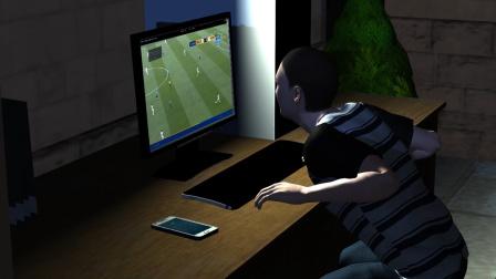小伙看世界杯太激动直拍桌子 结果手断了