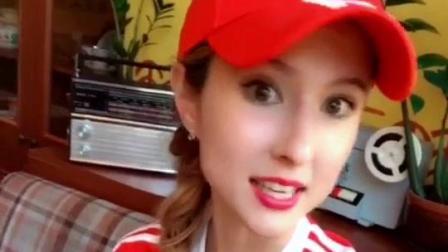 《时尚街拍推荐》俄罗斯樱桃美女, 第一次坐飞机