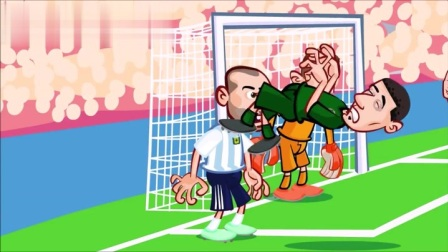 动画恶搞阿根廷大战尼日利亚 罗霍绝杀老马竖中