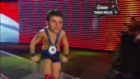 爆笑!网友恶搞德国爆冷遭淘汰 穆勒拳击台遭大