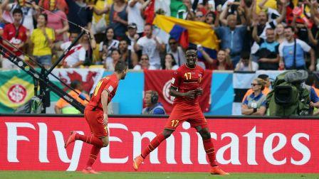 4年前比利时晋级时刻!阿扎尔长驱直入回传 奥利
