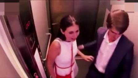 国外恶搞 电梯被送入万米高空, 尖叫的乘客被吓