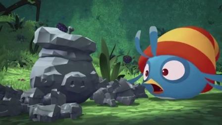 愤怒的小鸟:森林和动物全变成了石头,小鸟的预感应验了!