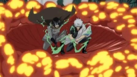 银魂:银时和星海坊主联手,简直不要太帅一击毙命宇宙怪物
