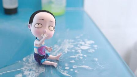 哭笑不得! 小僵尸饥不择食, 家里买不起水果, 于是把牙膏吃了 僵小鱼日常第二季25