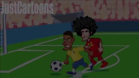 国外大神恶搞巴西1: 2被比利时淘汰出局, VAR视频