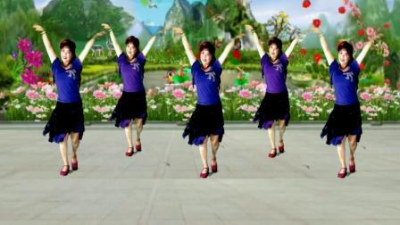 吕芳广场舞 一朵回忆心上开 简单好看好学正背面及分解动作