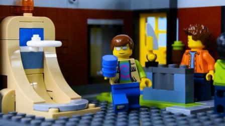 打街机游戏赢了个滑板, 乐高积木幽默短片