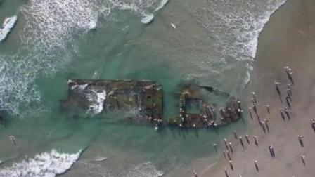 海岸惊现废弃船 考古学家认为是传说中的鬼船