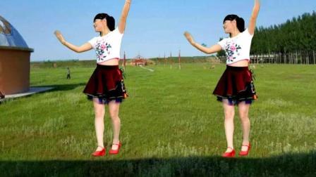 2人对跳草原广场舞《唱不完的情歌dj》豪迈大气