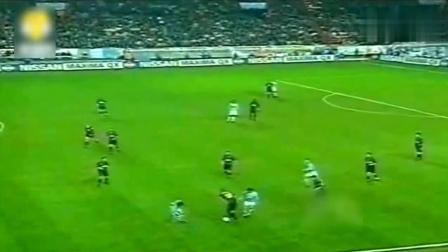 当年罗纳尔多的经典之作, 世界第一中后卫都被踢