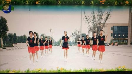 点击观看《好心情蓝蓝广场舞 情火 步子舞团队正反面演示 舞蹈动作分解 广场舞手把手教学》