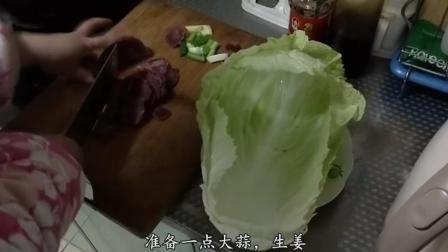 妈妈做的大白菜炒牛肉, 比饭店大厨做的还香, 三