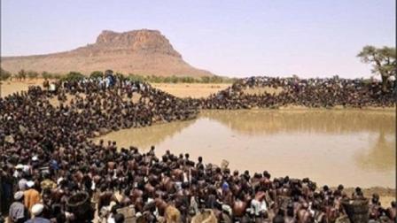 """非洲人太""""疯狂""""! 湖里数万条鱼, 10分钟后一条"""