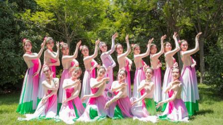 一群如含苞待放的莲花的美女 中国舞的美!