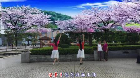 汉英广场舞 蓝色天梦 编舞 雨夜 爱跳舞的中年妇女