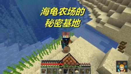 火焰解说: 我的世界 海洋版 4614 海龟农场的秘密基地