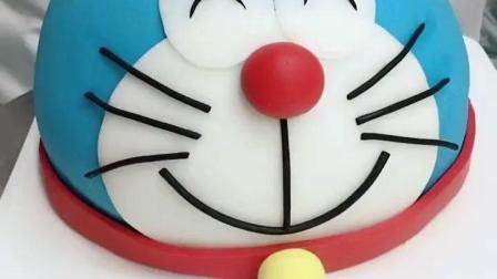 可爱! 叮当猫蛋糕制作全过程, 可爱得不忍心去吃啊