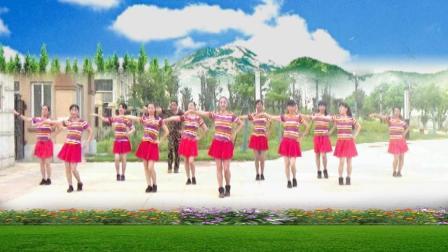 建群村广场舞 达令我爱你 编舞 彭晓晖 拉丁健身操集体表演展示视频