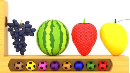 彩色足球��ε稣J�R美味的水果蔬菜