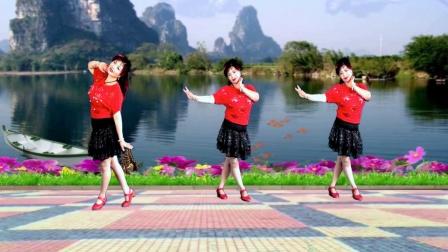 好适合在观音桥跳的坝坝舞教学视频来了 摘下满天星 舞蹈老师 吕芳广场舞 有正背面演示