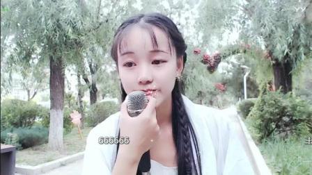 27225尹姑娘户外美女古装跳舞直播街头唱歌