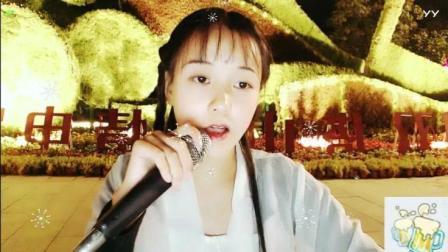 27225尹姑娘美女户外古装跳舞街头唱歌