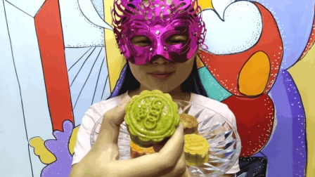 美食吃货: 面罩小姐姐尝鲜儿中秋节月饼 手工DIY奥迪图案双馅