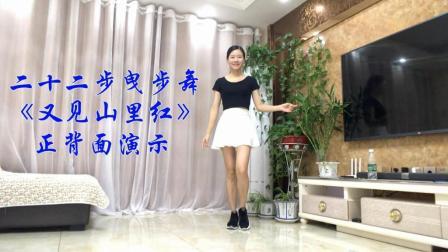 新生代广场舞 简单22步广场舞 又见山里红 正背面演示