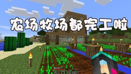 我的世界單人生存12: 農場牧場均建設完畢, 我還缺點什么呢?