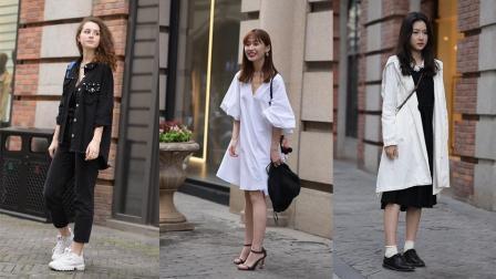 武汉美女街拍, 第二位白色连衣裙的小姐姐是直男