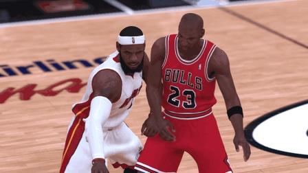 詹皇让乔丹三球后疯狂将乔丹摧毁! NBA2K19【名人堂难度盲投】